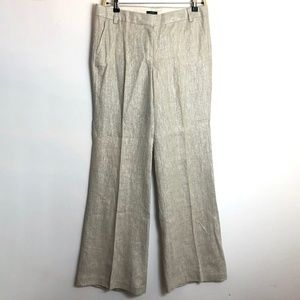 NWT J. Crew City-fit classic trouser Gold Linen